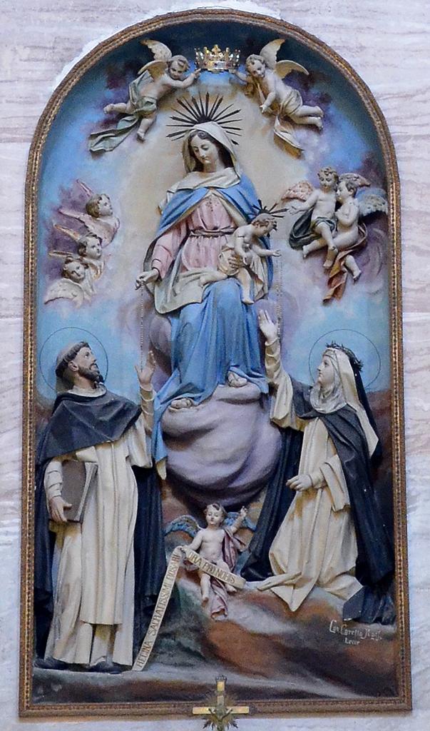 Particolare dell\\\\\\\\\\\\\\\\\\\\\\\\\\\\\\\'Atare della Madonna con Santi Carmelitani