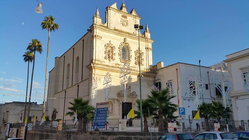 Vista esterna della Chiesa della Madonna del Carmine di Galatina