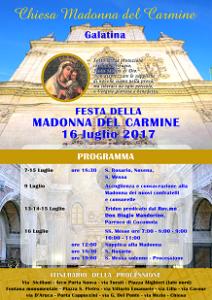 manifesto Festa della Madonna del Carmine 2017